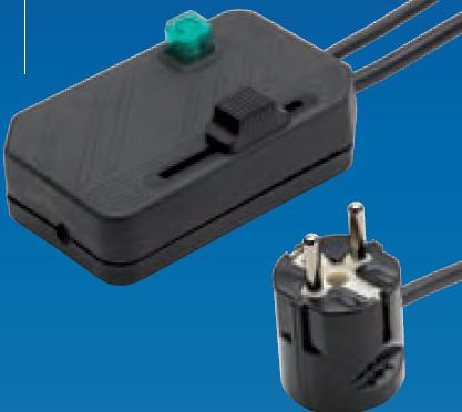 Regulador de pie negro con doble interruptor para l mpara for Interruptor regulador de luz