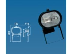 Proyector halógeno exterior 500 W. Ovalado. Negro