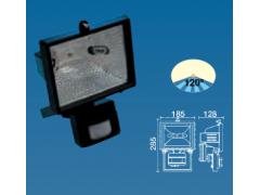 Proyector halógeno exterior 500 W. Con sensor. Negro